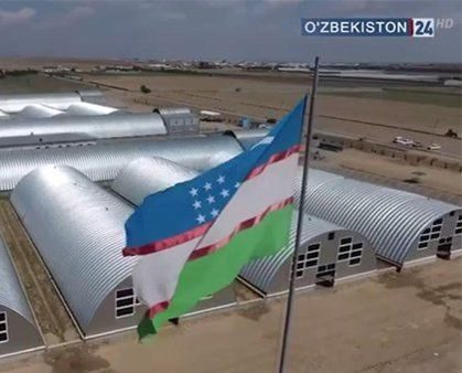 "Reportage of the ""O'zbekiston 24"" channel about our factory dated May 12, 2020 (in Uzbek)"