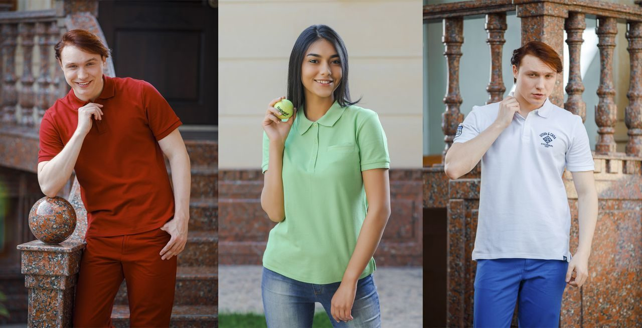 Women's and men's polo shirts